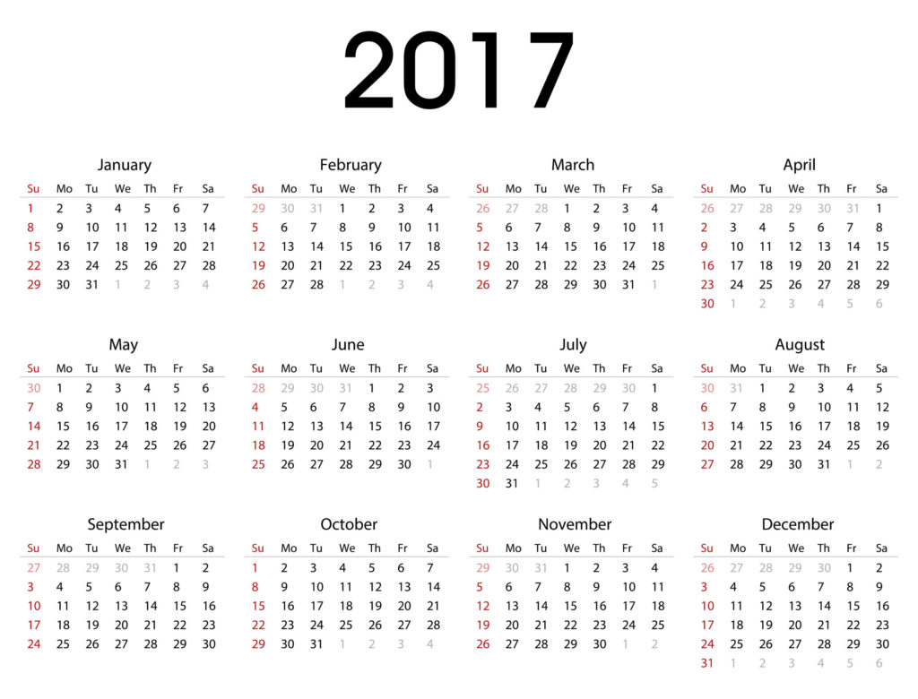 62243349 - simple 2017 calendar template for commercial and private use - week starting with monday